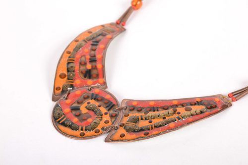 Copper necklet of sunny coloring - MADEheart.com