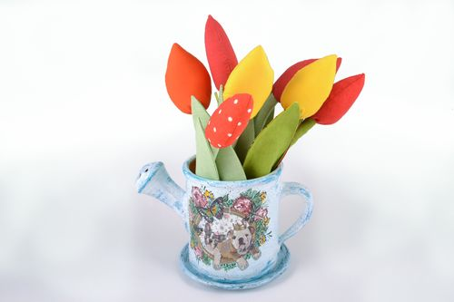 Ceramic flowerpot in the shape of watering pot - MADEheart.com