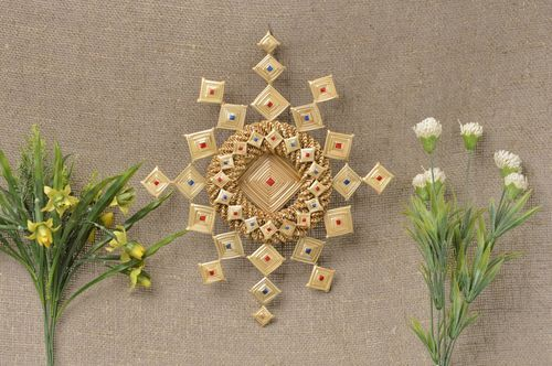 Homemade wall hanging home amulet for decorative use only straw decorations - MADEheart.com