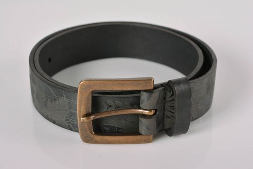 Handmade leather belt designer belts leather goods men accessories gifts for him - MADEheart.com