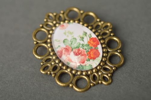 Handmade metal brooch fashion bijouterie metal accessories coat brooch - MADEheart.com