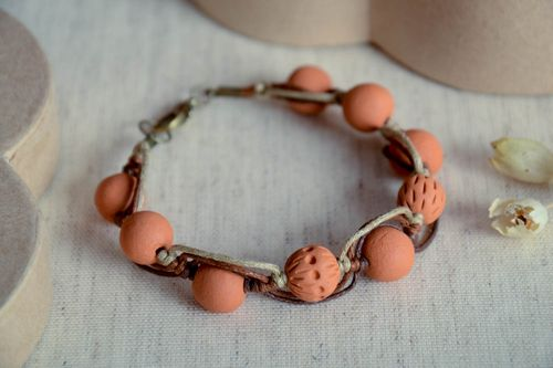 Handmade clay bracelet ceramic beaded bracelet eco friendly accessories - MADEheart.com