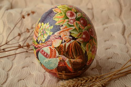 Handmade wax painted egg - MADEheart.com