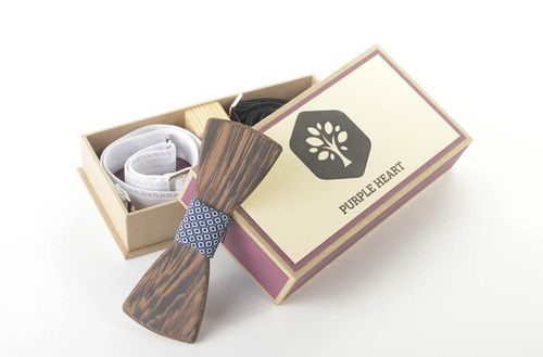 Handmade mens accessories wooden bow tie stylish bow tie gifts for men - MADEheart.com