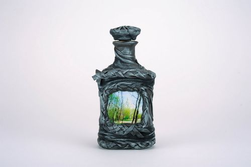 Bottle with landscape - MADEheart.com