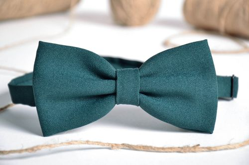 Bow tie made of gabardine - MADEheart.com