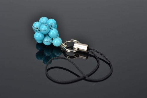Handmade keychain with natural turquoise - MADEheart.com