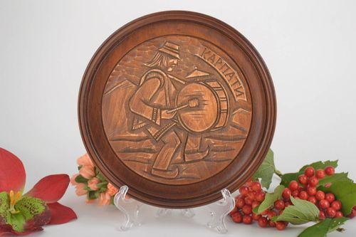 Wood plate handmade wall plate wood wall decor wall hanging housewarming gifts - MADEheart.com