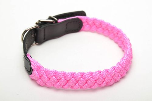 Bright woven dog collar - MADEheart.com