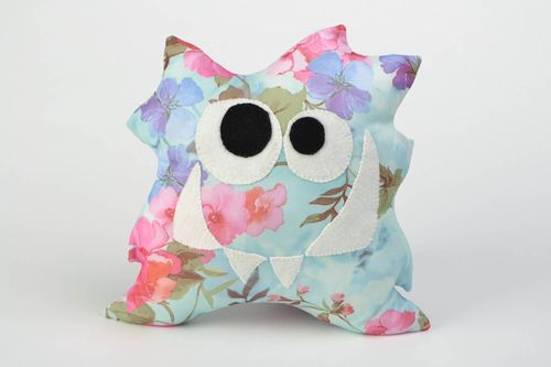 Handmade interior toy monster cushion made of acrylic fabric home decor - MADEheart.com
