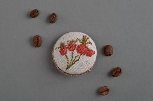 Handmade brooch for women beautiful round accessories stylish unusual  jewelry - MADEheart.com