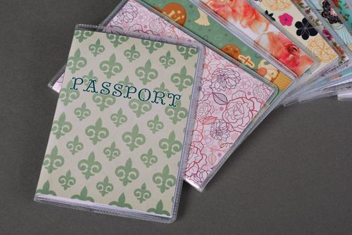 Stylish passport cover handmade passport holder designer accessories gift ideas - MADEheart.com