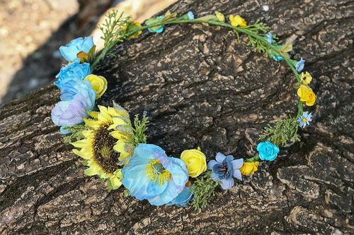 Wreath with sunflower - MADEheart.com