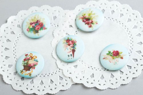 Elegant brooch handmade fabric brooches fashion accessories trendy bijouterie - MADEheart.com