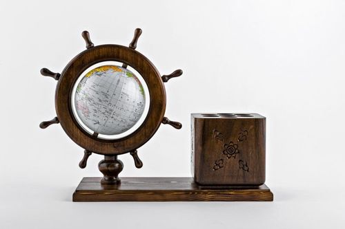 Globe with pen holder - MADEheart.com