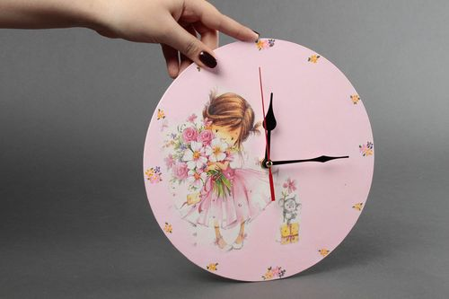 Designer handmade clock unusual beautiful accessories stylish home decor - MADEheart.com