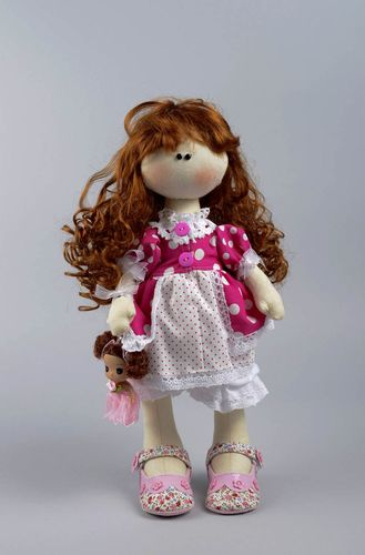 Beautiful handmade rag doll unusual soft toy stuffed toy for girls small gifts - MADEheart.com