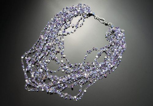 Airpuff-necklace with amethyst - MADEheart.com