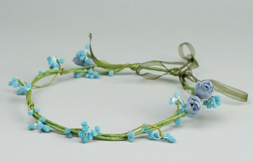 Headband with blue flowers - MADEheart.com