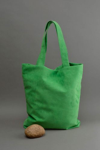 Ladies handbag handmade cloth purse bright green fabric bag top gifts for women - MADEheart.com
