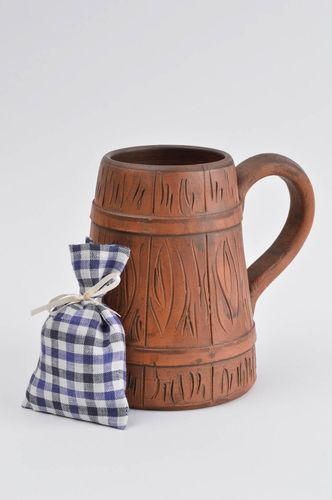 Stylish handmade beer mug unusual beautiful cup designer lovely kitchenware - MADEheart.com