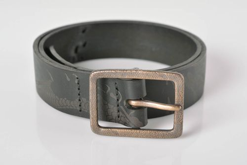 Handmade leather belt men accessories birthday gifts for him leather goods - MADEheart.com