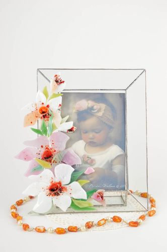 Beautiful handmade photo frame glass fusing ideas home decoration small gifts - MADEheart.com