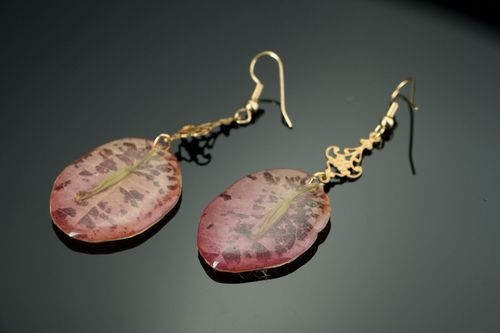 Beautiful earrings with the flowers of bougainvillea - MADEheart.com