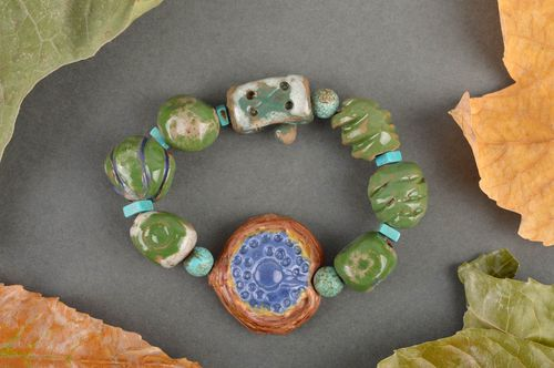 Unusual handmade ceramic bracelet pottery works fashion trends for girls - MADEheart.com