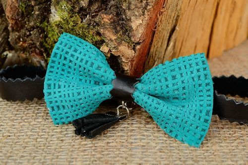 Leather bow tie - MADEheart.com