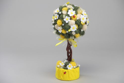 Textile topiary hand made of natural materials Sunny Mood - MADEheart.com