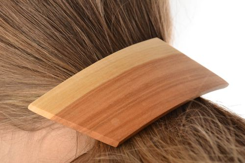 Hair jewelry Eco friendly beautiful handmade wooden hair clip for girls - MADEheart.com