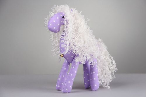 Purple toy Horse - MADEheart.com