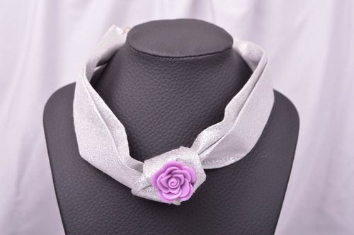Stylish handmade textile necklace fabric flower necklace fashion accessories  - MADEheart.com
