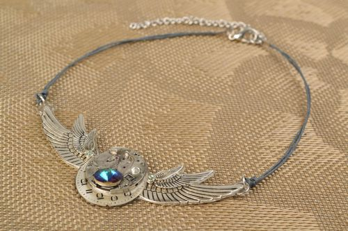 Steampunk necklace Wings - MADEheart.com