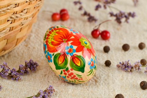 Handmade painted Easter egg wooden Easter eggs cool rooms decorative use only - MADEheart.com