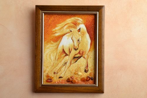 Amber decorated painting Horse - MADEheart.com