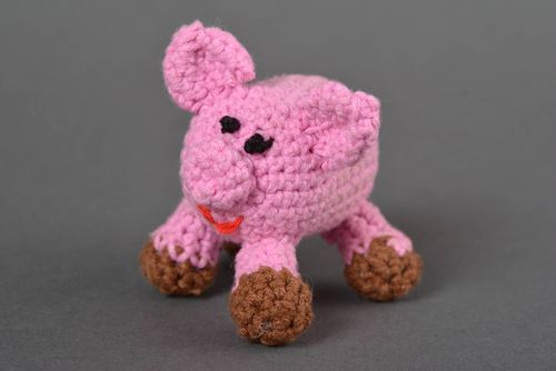 Unuusal handmade crochet soft toy baby rattle best toys for kids stuffed toy - MADEheart.com