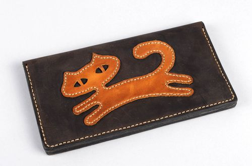 Designer wallet handmade leather wallet slip wallets fashion accessories - MADEheart.com