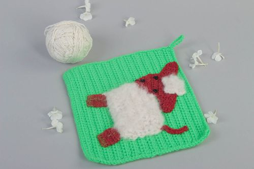 Handmade textile for home crocheted pot holder stylish kitchen supplies - MADEheart.com