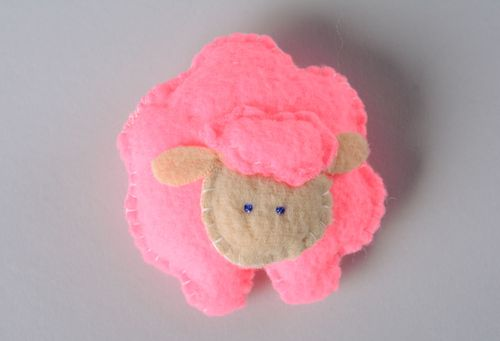 Soft fabric toy Pink Sheep - MADEheart.com