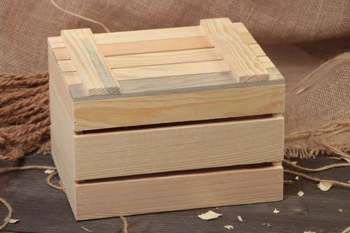 Plywood blank for box for decoupage or painting handmade decorative crafts - MADEheart.com