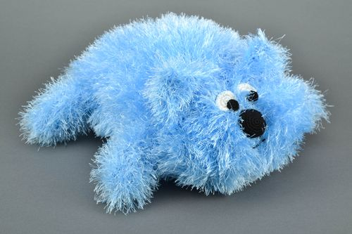 Blue knitted pillow pet - MADEheart.com