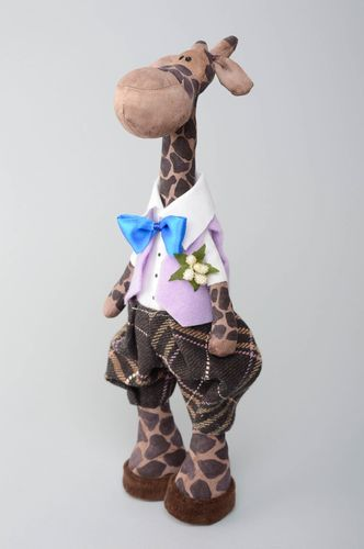 Designer soft toy soaked with coffee Giraffe - MADEheart.com