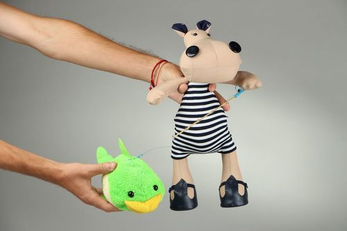 Soft toy Hippo sailor - MADEheart.com