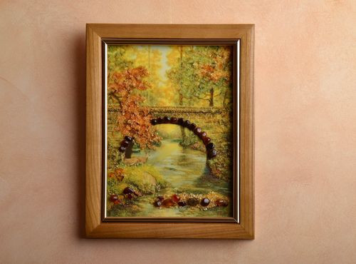Amber decorated wall picture Landscape - MADEheart.com