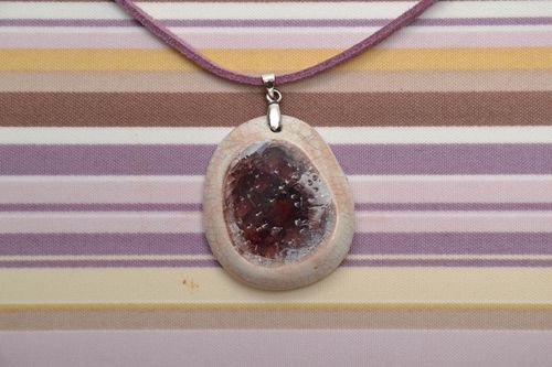 Ceramic pendant with glass - MADEheart.com
