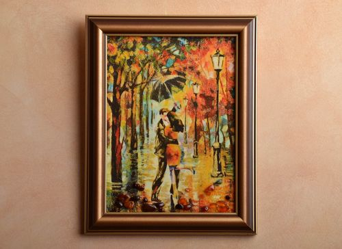 Amber decorated picture Autumn Kiss - MADEheart.com