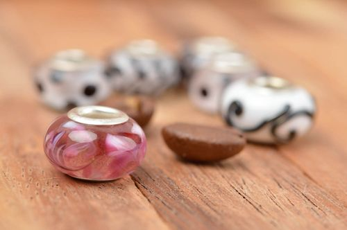 Beautiful handmade glass bead unusual jewelry findings DIY accessories - MADEheart.com