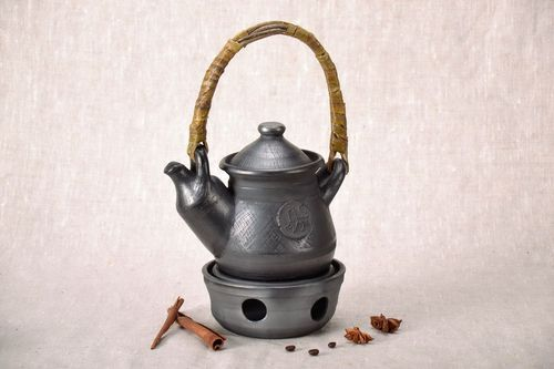 Ceramic kettle with capacity for heating - MADEheart.com